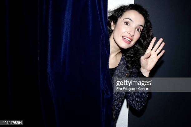 Actress and Humorist Isabelle Vitari poses during a portrait session in Paris France on
