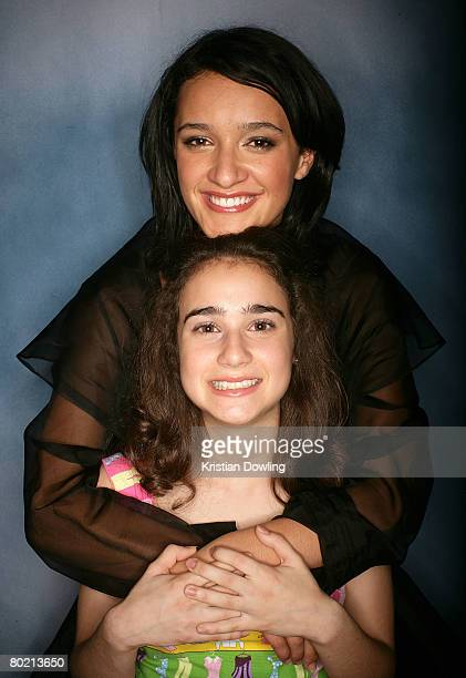 Actress and joint presenters of the 'Best Australian Newcomer Awards' Danielle Catanzariti and Keisha CastleHughes pose backstage at the 2008 Movie...