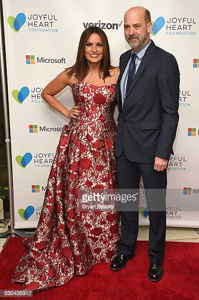 Actress and Joyful Heart Foundation Founder and President Mariska Hargitay and actor Anthony Edwards attend The Joyful Revolution Gala hosted by...