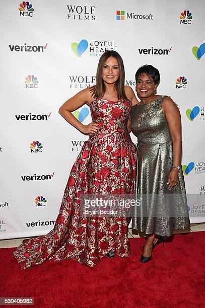 Actress and Joyful Heart Foundation Founder and President Mariska Hargitay and Verizon Foundation Chief Corporate Social Responsibility Officer Rose...