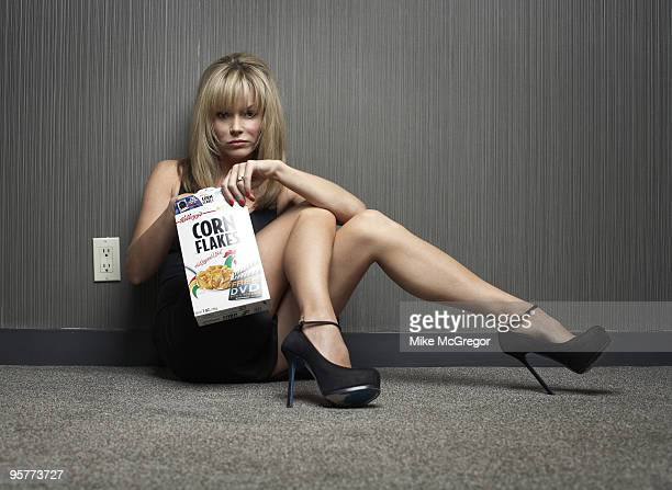 Actress and judge on television show Britian's Got Talent Amanda Holden poses at a portrait session for Observer Food Monthly Magazine