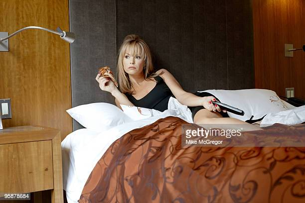 Actress and judge on television show Britian's Got Talent Amanda Holden poses at a portrait session for Observer Food Monthly Magazine on June 3 New...