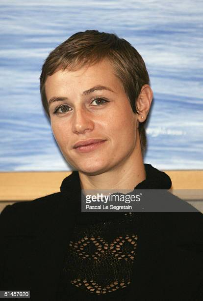 Actress and Jury member, Cecile De France attends a photocall on the third day of the 15th Dinard Festival Of British Film on October 9, 2004 in...