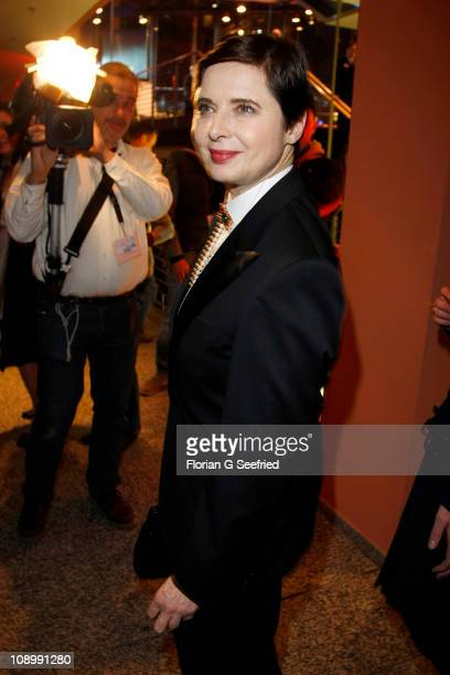 Actress and Jury member Isabella Rossellini attends the Opening Party after the 'True Grit' premiere during the opening day of the 61th Berlin...