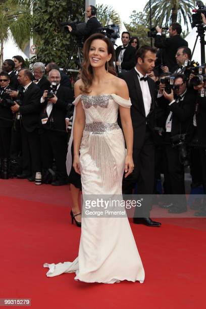 Actress and jury member Kate Beckinsale attends the premiere of 'Wall Street: Money Never Sleeps' held at the Palais des Festivals during the 63rd...