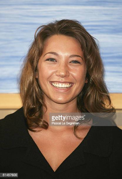 Actress and Jury member, Laura Smet attends a photocall on the third day of the 15th Dinard Festival Of British Film on October 9, 2004 in Dinard,...