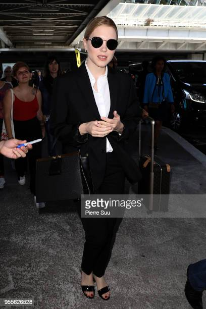 Actress and jury member Lea Seydoux is seen arriving at Nice Airport during the 71st annual Cannes Film Festival at on May 7 2018 in Nice France