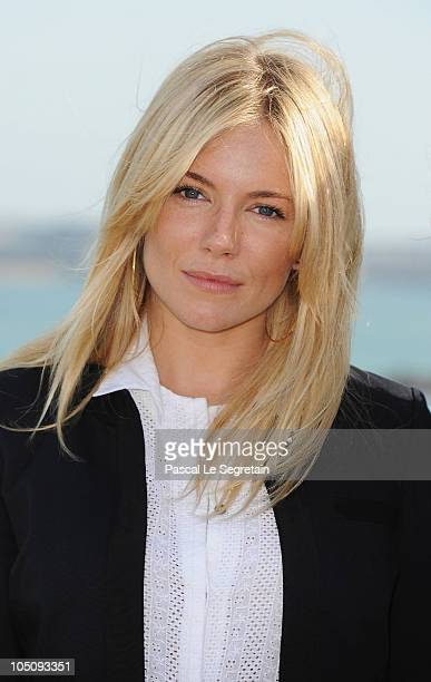 Actress and Jury member Sienna Miller poses during the jury photocall for the 21st Dinard British Film Festival on October 9 2010 in Dinard France