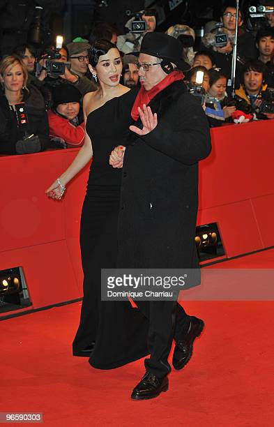 Actress and jury member Yu Nan and Festival director Dieter Kosslick attend the 'Tuan Yuan' Premiere during day one of the 60th Berlin International...