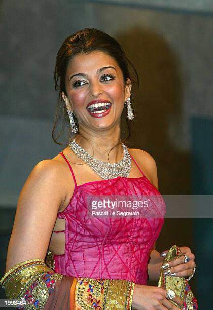 Actress and member of the Jury Aishwarya Rai during the opening ceremony of the International Cannes Film Festival at the Palais des Festivals May 14...