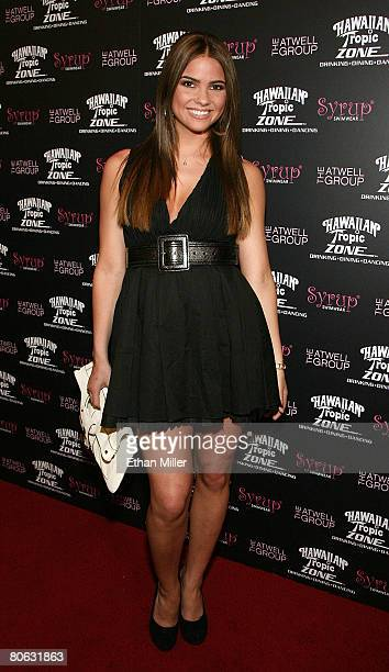 Actress and Miss Teen USA 2004 Shelley Hennig arrives at the Fashion Rocks the Universe fashion show at the Hawaiian Tropic Zone inside the Planet...