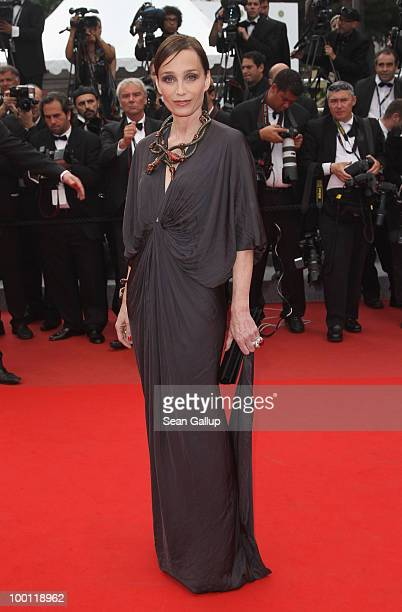 Actress and Mistress of Ceremony at Cannes Kristin Scott Thomas attends the 'Outside Of The Law' Premiere at the Palais des Festivals during the 63rd...
