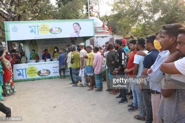Actress and MLA Nayana Banerjee distribute INR ..Rs.5/ Meal after West Bengal Chief Minister Mamata Banerjee virtual Inaguration in Kolkata on...