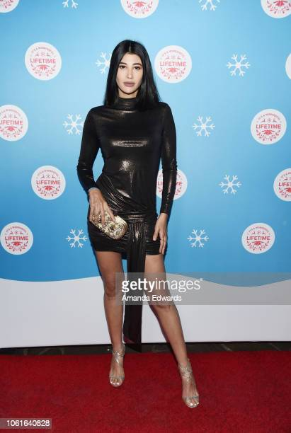Actress and model Abla Sofy attends the opening night celebration of the LifeSized Gingerbread House Experience at The Grove with the Stars of...