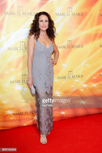 US actress and model Andie MacDowell attends the Remus Lifestyle Night on August 3 2017 in Palma de Mallorca Spain