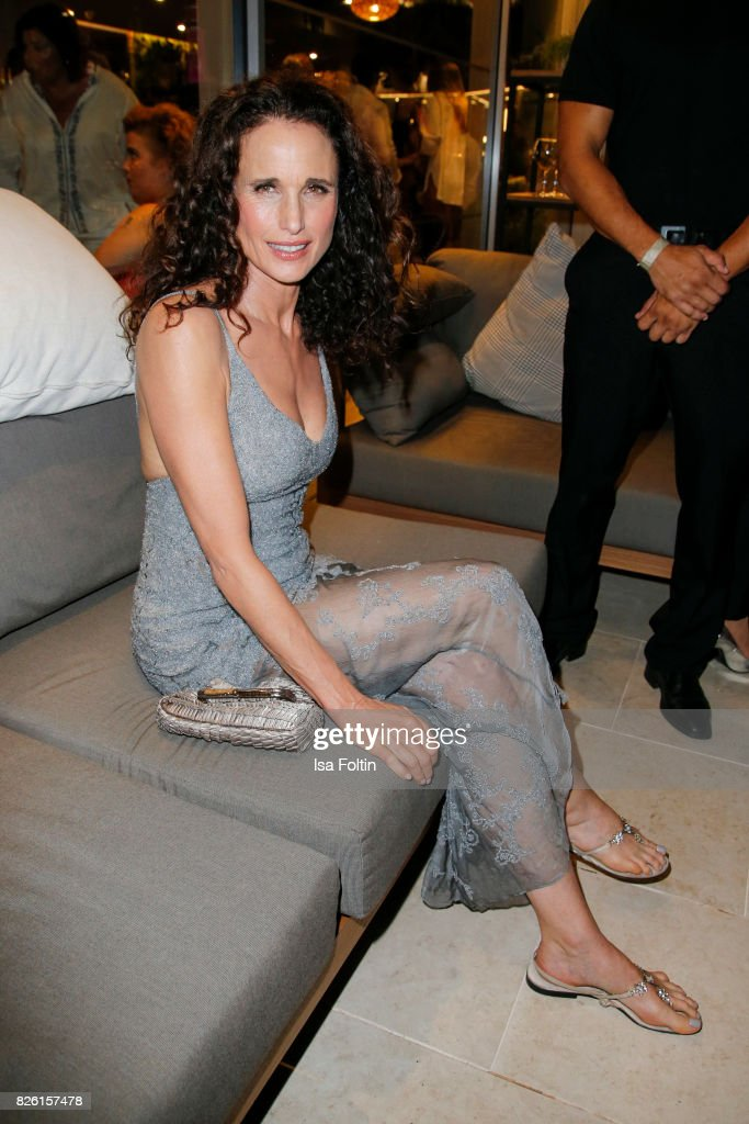 US actress and model Andie MacDowell attends the Remus Lifestyle Night on August 3, 2017 in Palma de Mallorca, Spain.