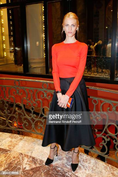 Actress and Model Aymeline Valade attends the Grand Bal de Deauville For Care France Association in Casino Barriere de Deauville on August 30 2014 in...