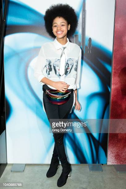 Actress and Model Briana Roy attends the Shiseido Makeup Launch Party at Quixote Studios on September 25 2018 in Los Angeles California