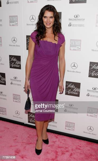 """Actress and Model Brooke Shields on the Red carpet at the """"VIVA LA CURE"""" Benefiting for EIF's Women's Cancer Research Fund hosted by SAKS Fifth..."""