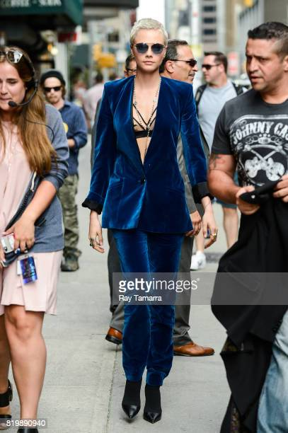 Actress and model Cara Delevingne enters the 'The Late Show With Stephen Colbert' taping at the Ed Sullivan Theater on July 20 2017 in New York City