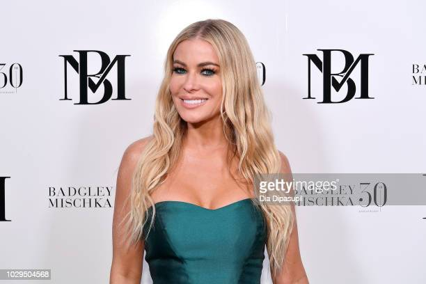 Actress and model Carmen Electra poses backstage at the Badgley Mischka show during New York Fashion Week: The Shows at Gallery I at Spring Studios...