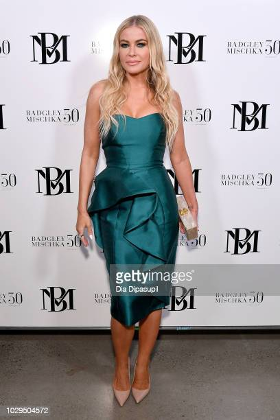 Actress and model Carmen Electra poses backstage at the Badgley Mischka show during New York Fashion Week The Shows at Gallery I at Spring Studios on...