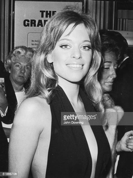 Actress and model Edina Ronay attending a film premiere 17th September 1968