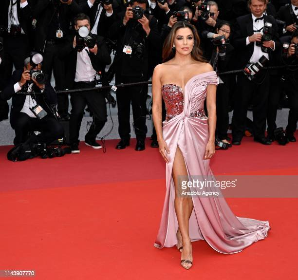 US actress and model Eva Longoria arrives for the screening of the film The Dead Don't Die' and the Opening Ceremony at the 72nd annual Cannes Film...