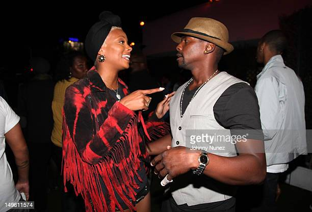 Actress and model Eva Marcille and actor and singer Keith Robinson attend the A Wonderful Life Performance Series Featuring Estelle presented by Rosa...