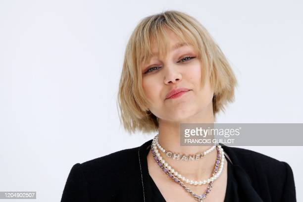 Actress and model Grace VanderWaal poses during the photocall prior to the Chanel Women's Fall-Winter 2020-2021 Ready-to-Wear collection fashion show...