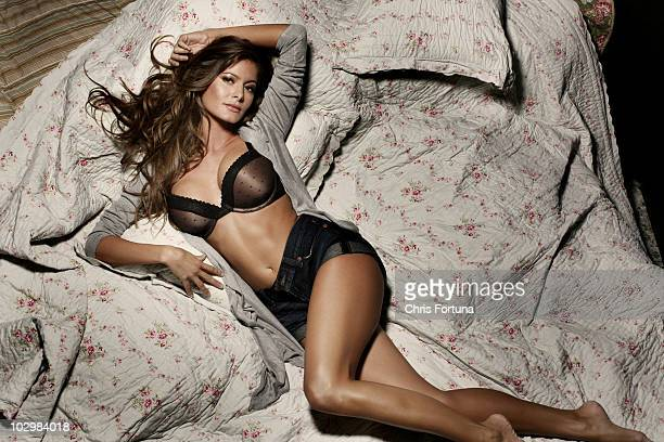 Actress and model Holly Weber poses at a portrait on October 23 Los Angeles CA NO SALES TO GQ ESQUIRE FHM DETAILS LOADED PLAYBOY FRONT RALPH GEAR VIP...