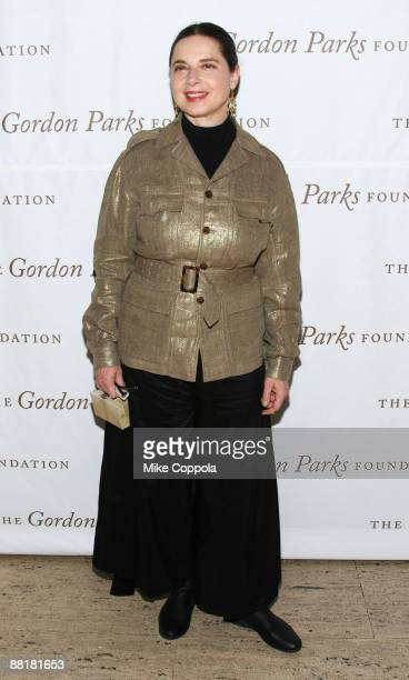 Actress and model Isabella Rossellini attends the Gordon Parks Foundation's Celebrating Fashion Awards Gala at Gotham Hall June 2 2009 in New York...