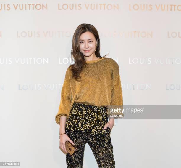 Actress and model Janice Man poses at the red carpet during the Louis Vuitton Landmark Maison opening on 02 March 2017, in Landmark Atrium, Hong...