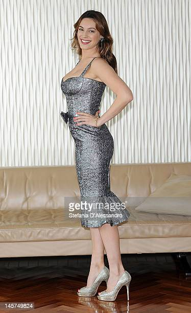 Actress and model Kelly Brook attends 2012 Ischia Global Fest Photocall on June 5 2012 in Milan Italy
