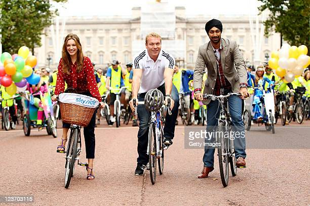 Actress and model, Kelly Brook joined multiple world and Olympic champion Sir Chris Hoy Kulveer Ranger, the Mayor of Londons Director of 2012...