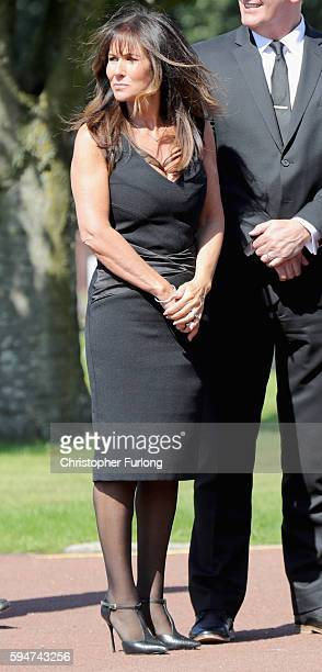 Actress and model Linda Lusardi attends the funeral service of Star Wars actor Kenny Baker on August 24 2016 in Lytham St Annes England Kenny Baker...