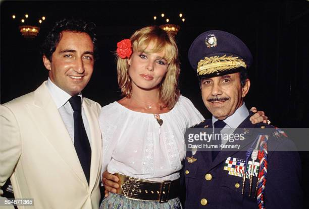 Actress and model Margaux Hemingway and her first husband Erroll Wetson and an unidentified person at a wedding circa 1977 in Santo Domingo Dominican...
