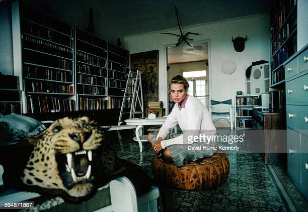 Actress and model Margaux Hemingway at her grandfather Ernest Hemingway's house February 1978 in Havana Cuba The house known as Finca Vigía has since...