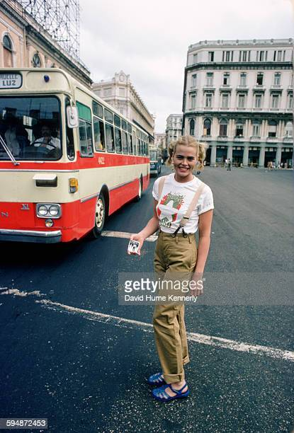 Actress and model Margaux Hemingway in February 1978 in Havana, Cuba.