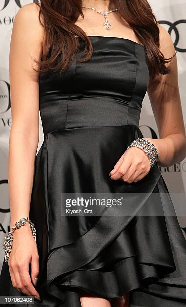 Actress and model Meisa Kuroki attends the 'Vogue Nippon Women of the Year 2010' award ceremony at Grand Hyatt Tokyo on November 22 2010 in Tokyo...