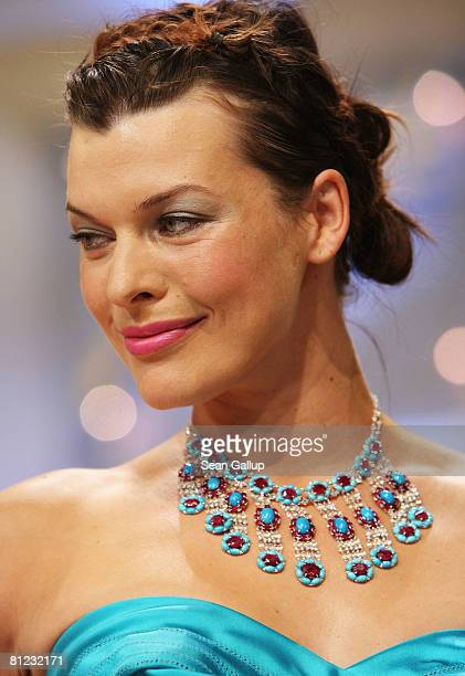 Actress and model Milla Jovovich during the Palme d'Or Closing Ceremony at the Palais des Festivals during the 61st International Cannes Film...