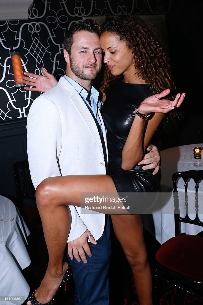 Actress and model Noemie Lenoir celebrates her 34th birthday and dance with her Dance professor Christian Millette at 'A.Club Party' at Castel on September 19, 2013 in Paris, France.