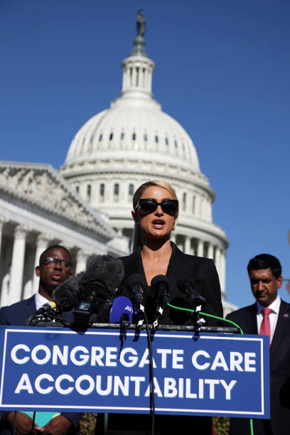 DC: Lawmakers Hold Press Conference On Child Abuse With Paris Hilton