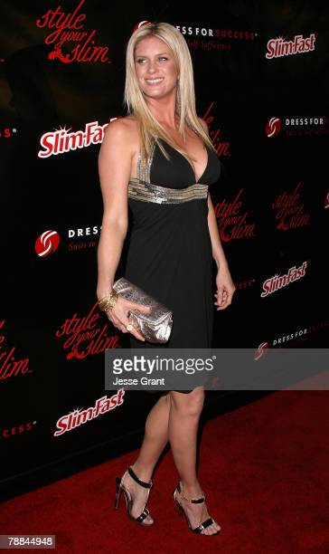 Actress and model Rachel Hunter arrives at the Style Your Slim event presented by Slim Fast at Boulevard3 on January 8 2007 in Hollywood California