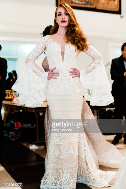 Actress and Model Sarah Shields attends Sanctuary Fashion Week on March 7 2019 in Los Angeles California