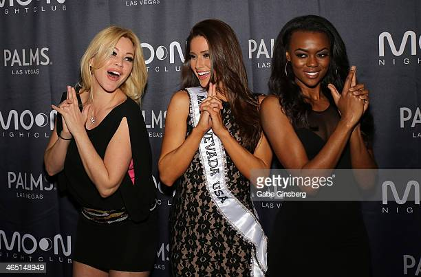 Actress and model Shanna Moakler Miss Nevada USA 2014 Nia Sanchez and model Talyah Polee pose like the characters from the 'Charlie's Angels' movie...