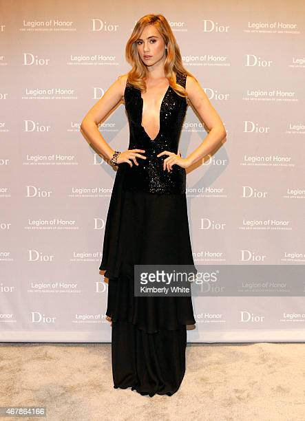 Actress and model Suki Waterhouse attends the 2015 MidWinter Gala presented by Dior at Legion Of Honor on March 27 2015 in San Francisco California