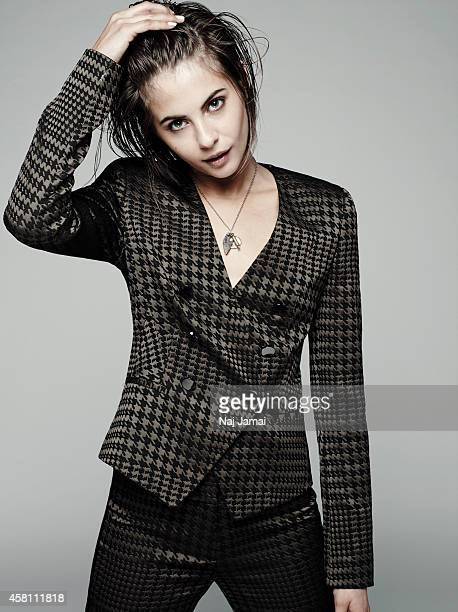 Actress and model Willa Holland is photographed for WhoWhatWearcom on October 8 2014 in Los Angeles California Jacket and Trousers PUBLISHED IMAGE