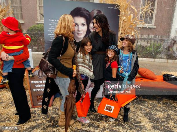Actress and mom Angie Harmon with TrickorTreaters unveils her new Milk Mustache ad and celebrates chocolate milk as The Official Drink of Halloween...