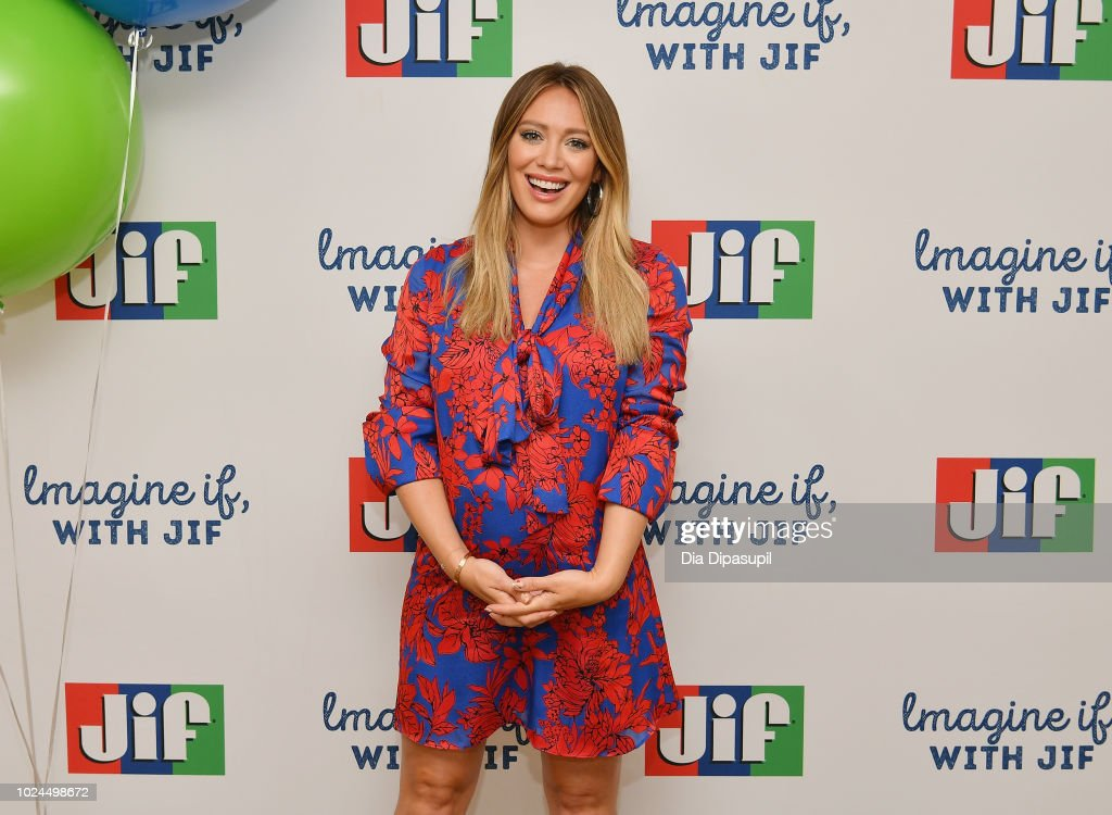 """Hilary Duff Announces The """"Imagine If, With Jif"""" Contest Kick Off With Jif Peanut Butter : News Photo"""
